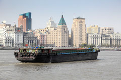Barge on the Huangpu river Stock Images