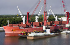 Barge Loading royalty free stock photography