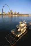 Barge on Mississippi River Stock Photos
