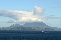 Barge near St Kitts and Nevis Royalty Free Stock Photos