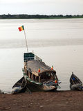 Barge on Niger River Stock Images