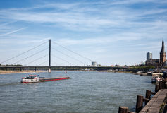 Barge at Rhin Royalty Free Stock Images