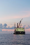 Barge rig platform of oil and gas industry Stock Photography