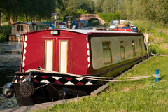 Barge on the River. Barge parked on the river Stock Images