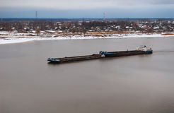 Barge on the river Stock Photography