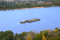 The barge on the river Stock Image