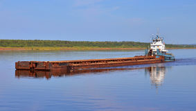 The barge on a river Royalty Free Stock Photography