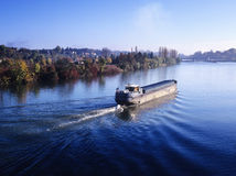 Barge river Stock Photos