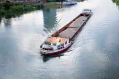 Barge  on river Stock Photo