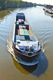 Barge on river main Royalty Free Stock Photo