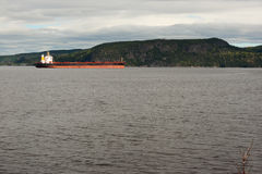 Barge on river Stock Photography