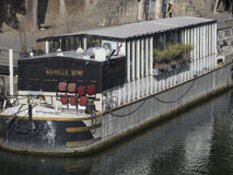 Barge on river Seine, Paris Royalty Free Stock Photos