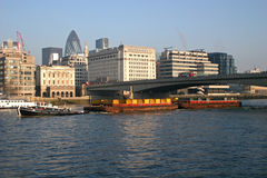 Barge on River Thames Royalty Free Stock Image