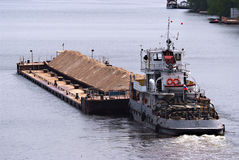 Barge with sand Stock Photo