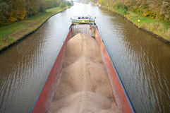 Barge with sand Royalty Free Stock Photo