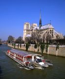 Barge on the Seine Stock Photography