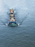 Barge on the Seine River, Melun, France Royalty Free Stock Image