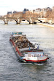 Barge on the Seine Royalty Free Stock Photography