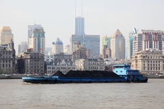 Barge in Shanghai, China Royalty Free Stock Photos