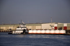 Barge Traffic Royalty Free Stock Photo