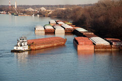 Barge Traffic Royalty Free Stock Photos