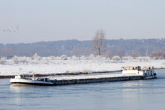Barge winter Royalty Free Stock Images