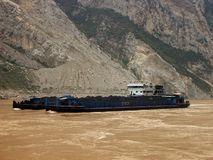 A barge on the Yangtze River Stock Image