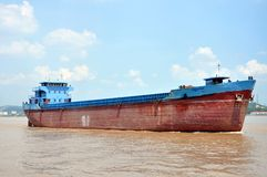 Barge on Yangtze River, Nanjing, China Royalty Free Stock Photography