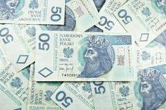 Bargeld 50 Polens PLN Lizenzfreies Stockbild