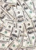 Bargeld-Anmerkungs-Hintergrund Stockfotos