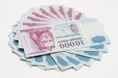 Bargeld auf weißem Hintergrund Stockfotos