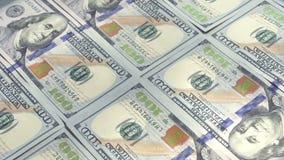 Bargeld der finanziellen Vermögenswerte stock video footage