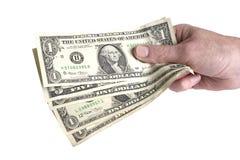Bargeld in der Hand Stockfotos