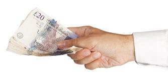 Bargeld in der Hand Lizenzfreies Stockfoto