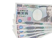 Bargeld der japanischen Yen Stockbild