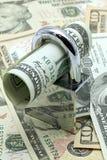 Bargeld-Einsparung-Versicherungs-Konzept stockbild