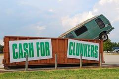 Bargeld für Clunkers Stockfoto