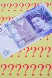 Bargeld für Fragen? stockfotografie