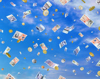 Bargeld-Fall Lizenzfreie Stockfotografie