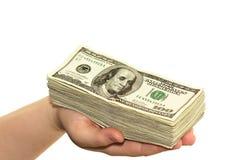 Bargeld an Hand Lizenzfreies Stockfoto