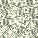 Bargeld-Hintergrund Stockfoto