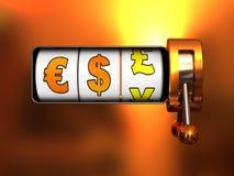 Bargeld-Jackpot Stockfotografie