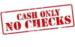 Bargeld nur keine Kontrollen lizenzfreie abbildung