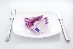 Bargeld-Salat Stockbild