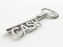 Bargeld-Schlüssel Lizenzfreie Stockfotos