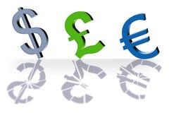 Bargeld um die Welt lizenzfreie abbildung