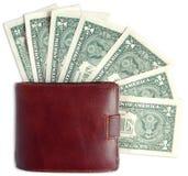 Bargeld und Geldbörse Lizenzfreie Stockfotografie