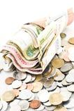 Bargeld und Münzen Lizenzfreie Stockbilder