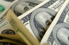 Bargeld US-Dollars Stockbild