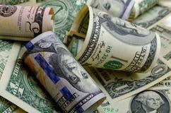 Bargeld US-Dollars Stockfotos